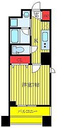 クレストコート志村坂上 8階1Kの間取り