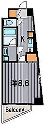 神奈川県横浜市都筑区大丸の賃貸マンションの間取り