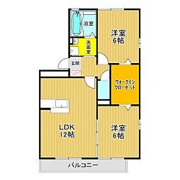 クリオコートB棟[1階]の間取り