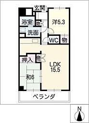 S−FORT車道[6階]の間取り