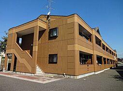 福岡県飯塚市潤野の賃貸アパートの外観