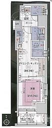 JR山手線 浜松町駅 徒歩8分の賃貸マンション 2階1DKの間取り