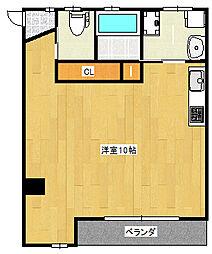 JR東海道・山陽本線 灘駅 徒歩2分の賃貸アパート 1階ワンルームの間取り