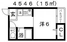 セラ天王寺A[2階]の間取り