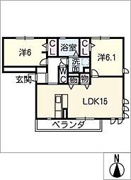 プロシード[3階]の間取り