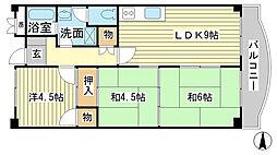 ヤナギマンション[401号室]の間取り