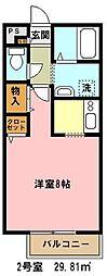 埼玉県さいたま市浦和区領家6丁目の賃貸アパートの間取り