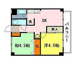 高田マンション[4階]の間取り