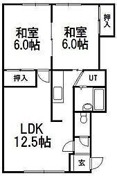 テクノストリート[2階]の間取り