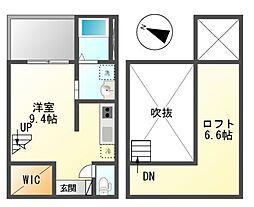 Vaga新富(ベガシントミ)[2階]の間取り