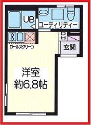 グロー・フォワード浅草 3階ワンルームの間取り