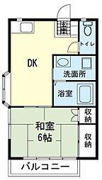コーポ桂[0203号室]の間取り
