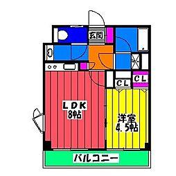 福岡県福岡市博多区西月隈5丁目の賃貸マンションの間取り