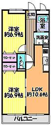 アミティエ3[2階]の間取り
