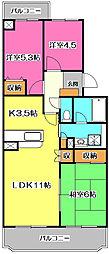 埼玉県新座市野火止6丁目の賃貸マンションの間取り