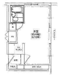 プライム赤坂[4階]の間取り