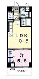 クレスト湘南[4階]の間取り