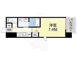 名古屋市営東山線 新栄町駅 徒歩11分の賃貸マンション 11階1Kの間取り
