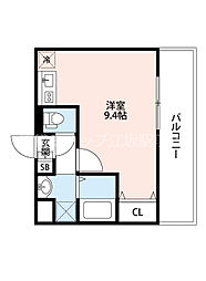 JR東海道・山陽本線 吹田駅 徒歩4分の賃貸マンション 8階ワンルームの間取り