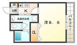 フィオーレ滝井[1階]の間取り