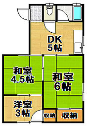 第1オグラマンション[3階]の間取り