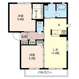 Maison Fromage II[2階]の間取り