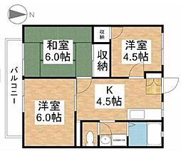 メゾン青風[2階]の間取り