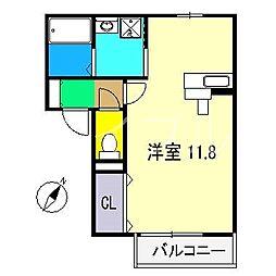 フルーレ[2階]の間取り