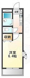 JR東海道・山陽本線 高槻駅 バス24分 南平台西口下車 徒歩5分の賃貸マンション 2階1Kの間取り