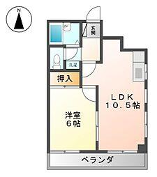 中久ビル[4階]の間取り