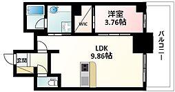 Osaka Metro御堂筋線 江坂駅 徒歩5分の賃貸マンション 16階1LDKの間取り