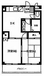 神奈川県横浜市戸塚区汲沢8丁目の賃貸マンションの間取り
