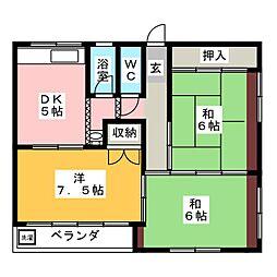 東海商事(有)ビル[2階]の間取り