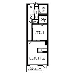 埼玉県八潮市大瀬3丁目の賃貸アパートの間取り