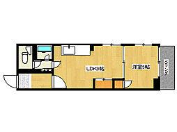 兵庫県神戸市垂水区城が山5丁目の賃貸マンションの間取り