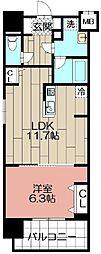 (仮)博多駅東3丁目プロジェクト[701号室]の間取り