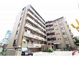 岡山県岡山市北区岡町の賃貸マンションの外観