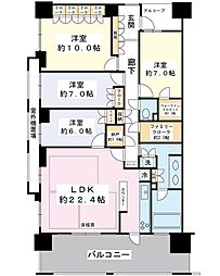 パークシティ新浦安 D棟[7階]の間取り