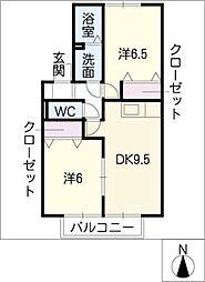 コンフォート・フラット[1階]の間取り