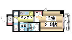 グランカリテ神戸WEST[3階]の間取り