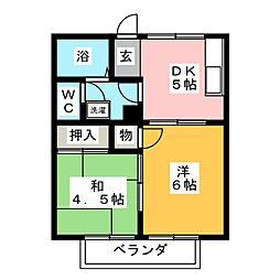 ハウスエイト[2階]の間取り
