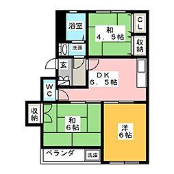 第12平松マンション[2階]の間取り