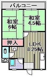 情報都市ビル[403号室]の間取り