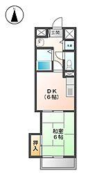 第2黒川タ−ミナルハイツ[3階]の間取り