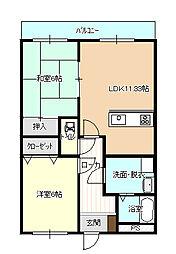 WAKATSU2[104号室]の間取り