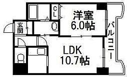 ティアラN6[5階]の間取り