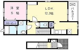 ラ・エルヴィータ[2階]の間取り