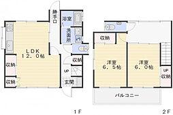 [一戸建] 神奈川県横須賀市若宮台 の賃貸【/】の間取り
