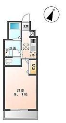 サクセスロードII[1階]の間取り