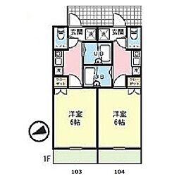 LIEN読売ランド[103号室]の間取り